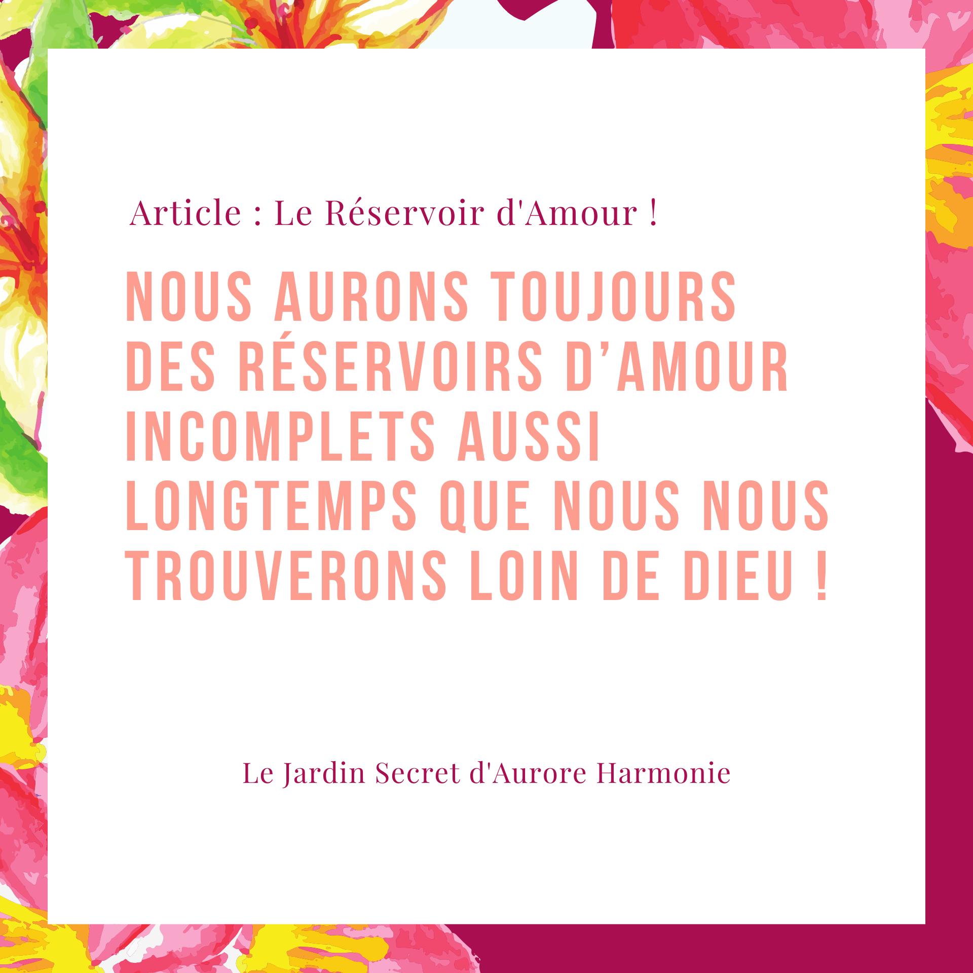 Extrait Réservoir dAmour